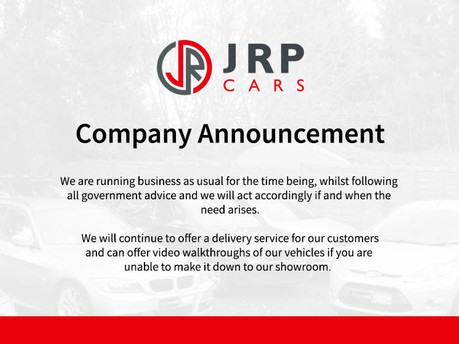 Welcome to JRP Cars