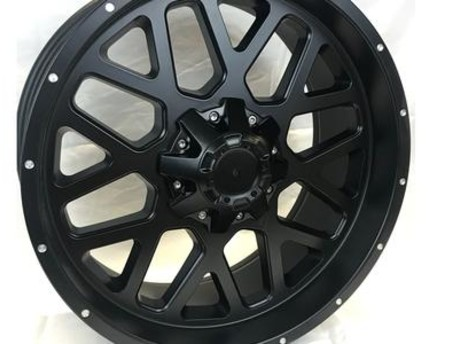 "20"" Black Alloy Wheels, Complete with Tyres"