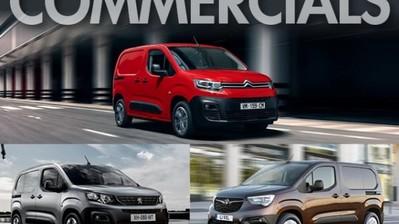 Brand New Vauxhall Combo, Citroën Berlingo and Peugeot Partner Vans