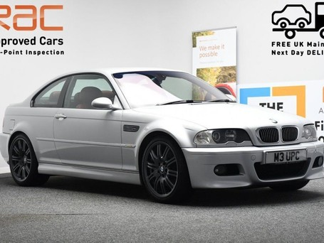 BMW M3 3.2 M3 SMG 2d 338 BHP SILVER RED LEATHER INTERIOR SHIFT PADDLES/IN CAR TV-2