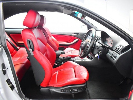 BMW M3 3.2 M3 SMG 2d 338 BHP SILVER RED LEATHER INTERIOR SHIFT PADDLES/IN CAR TV-2 7