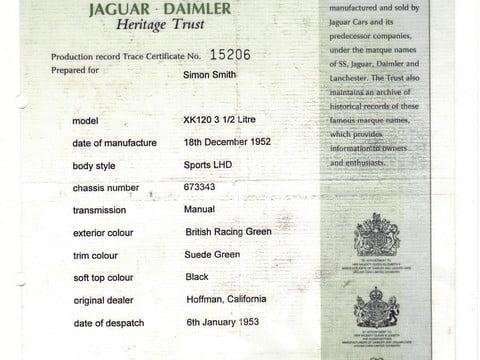 Jaguar XK XK120 OTS Roadster 49