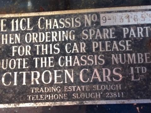 Citroen Traction Avant 11CL Light Fifteen 14