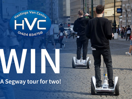 Win a Segway tour for two at a location of your choice with Hastings Van Centre!