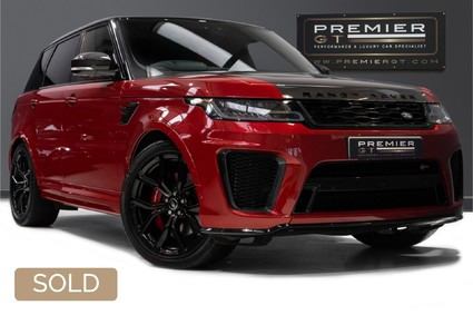 Land Rover Range Rover Sport SVR 5.0 SUPERCHARGED. NOW SOLD. CALL US TODAY TO SELL YOUR RANGE ROVER.