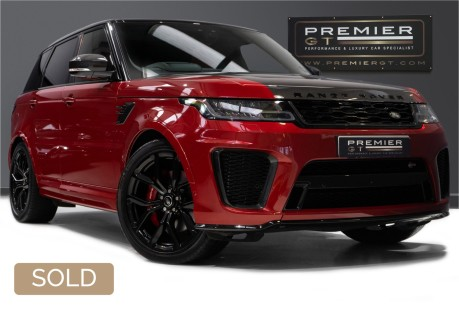 Land Rover Range Rover Sport SVR 5.0 SUPERCHARGED. NOW SOLD. CALL US TODAY TO SELL YOUR RANGE ROVER. 1