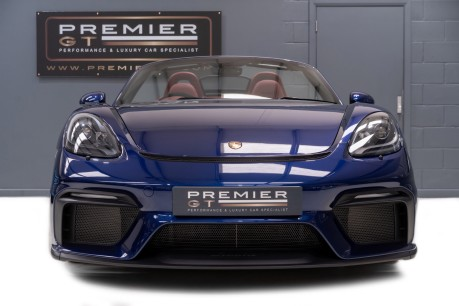 Porsche 718 4.0 6-SPEED MANUAL SPYDER, DELIVERY MILEAGE, CLASSIC SPYDER INT. PACKAGE 2