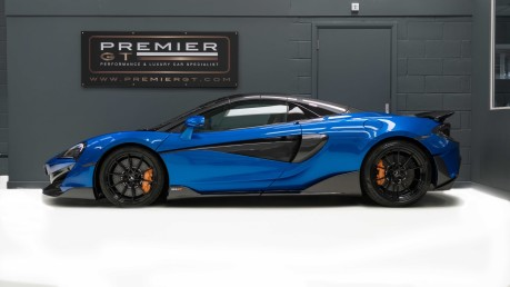 McLaren 600 LT SPIDER V8 SSG, VEGA BLUE, £32,000 OF OPTIONS, LUXURY PACK 5
