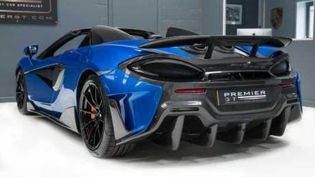 McLaren 600 LT SPIDER V8 SSG, VEGA BLUE, £32,000 OF OPTIONS, LUXURY PACK 7