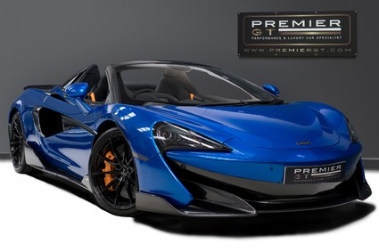 McLaren 600 LT SPIDER V8 SSG. VEGA BLUE. LUXURY PACK. SECURITY PACK. £32,000 OF OPTIONS