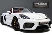 Porsche 718 4.0 SPYDER. 6-SPEED MANUAL. BRAND NEW CAR. SPYDER INTERIOR. SPORTS CHRONO.