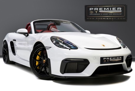 Porsche 718 4.0 SPYDER. 6-SPEED MANUAL. BRAND NEW CAR. SPYDER INTERIOR. SPORTS CHRONO. 1