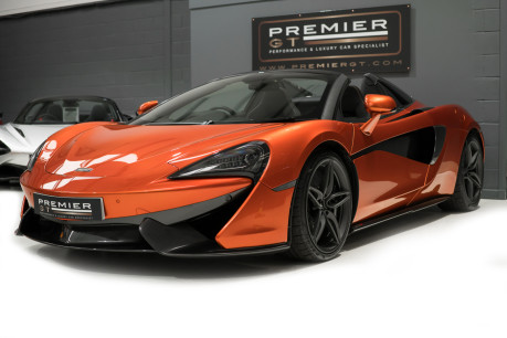 McLaren 570S SPIDER. V8 SSG.FRONT AXLE LIFT. FRONT END TOPAZ PPF. OVER £25K OF OPTIONS. 4