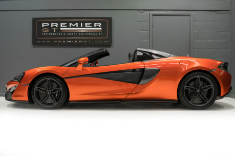 McLaren 570S SPIDER. V8 SSG.FRONT AXLE LIFT. FRONT END TOPAZ PPF. OVER £25K OF OPTIONS. 5