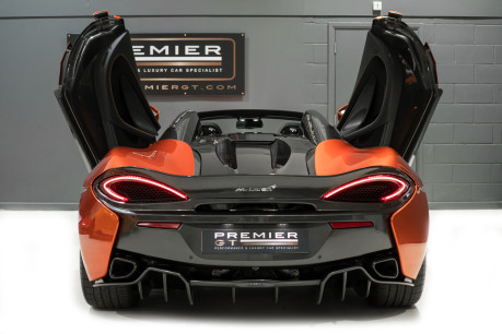 McLaren 570S SPIDER. V8 SSG.FRONT AXLE LIFT. FRONT END TOPAZ PPF. OVER £25K OF OPTIONS. 10