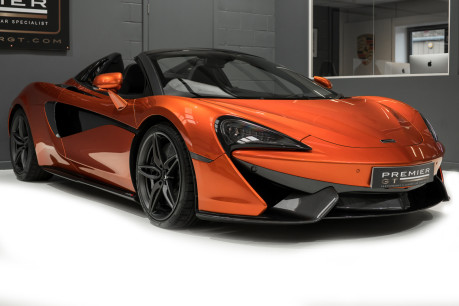 McLaren 570S SPIDER. V8 SSG.FRONT AXLE LIFT. FRONT END TOPAZ PPF. OVER £25K OF OPTIONS. 29