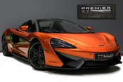 McLaren 570S SPIDER. V8 SSG.FRONT AXLE LIFT. FRONT END TOPAZ PPF. OVER £25K OF OPTIONS.