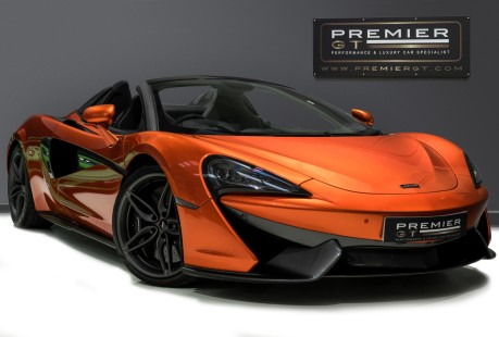 McLaren 570S SPIDER. V8 SSG.FRONT AXLE LIFT. FRONT END TOPAZ PPF. OVER £25K OF OPTIONS. 1