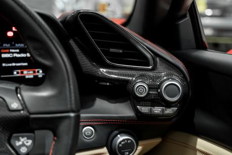 Ferrari 488 SPIDER. CARBON EXT & INT PACKS. PASSENGER DISPLAY. FRONT LIFT. REAR CAMERA. 55