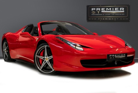 Ferrari 458 SPIDER. NOW SOLD, SIMILAR REQUIRED. PLEASE CALL 01903 254800 1