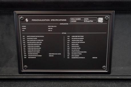 Ferrari 812 Superfast 6.5 V12. CARBON FIBRE DRIVER ZONE WITH LEDS. PASSENGER DISPLAY. FULL PPF. 17