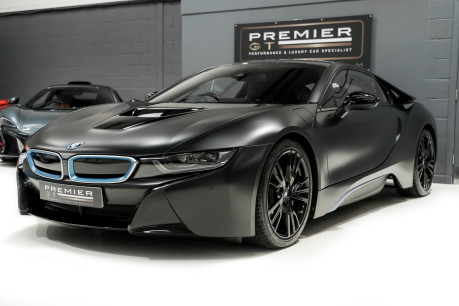 BMW I8 FROZEN BLACK PAINT. NOW SOLD, SIMILAR REQUIRED. PLEASE CALL 01903 254800 5