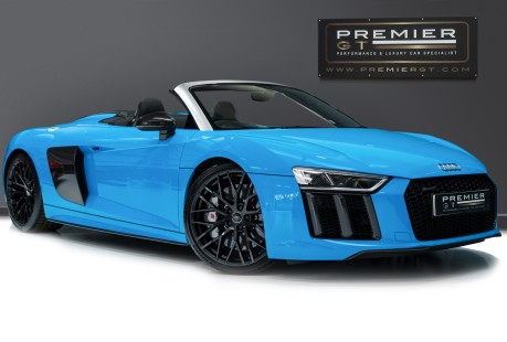 Audi R8 V10 PLUS QUATTRO SPYDER. AUDI SPORT PACK. SPORTS EXHAUST. FRONT END PPF. 1