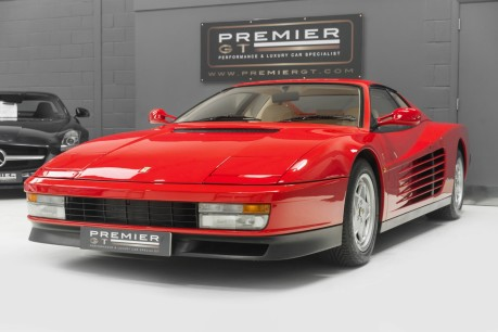 Ferrari Testarossa COUPE. 4.9L FLAT 12 MANUAL. EX AL-FAYED COLLECTION CAR. BORDEAUX CARPETS. 3