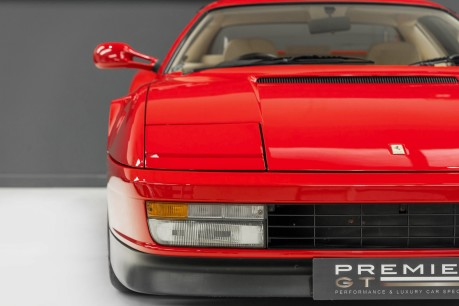 Ferrari Testarossa COUPE. 4.9L FLAT 12 MANUAL. EX AL-FAYED COLLECTION CAR. BORDEAUX CARPETS. 26