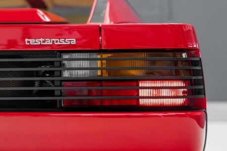 Ferrari Testarossa COUPE. 4.9L FLAT 12 MANUAL. EX AL-FAYED COLLECTION CAR. BORDEAUX CARPETS. 11