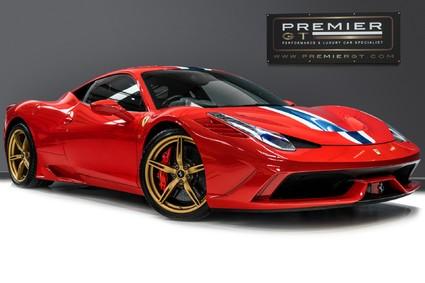Ferrari 458 SPECIALE. FORGED GOLD WHEELS. NART STRIPE. CARBON FIBRE RACING SEATS. PPF.