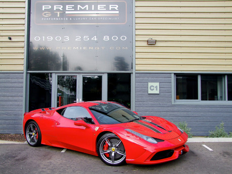 Ferrari 458 SPECIALE 4.5 COUPE, FERRARI FACTORY PAINTED NART STRIPE, FULL PPF