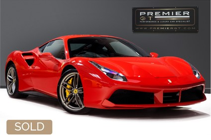 Ferrari 488 GTB 3.9 TWIN-TURBO V8. NOW SOLD. CALL US TODAY TO SELL YOUR FERRARI.