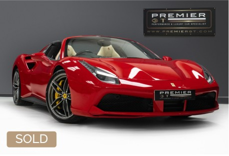 Ferrari 488 3.9 V8 TWIN-TURBO SPIDER. NOW SOLD. CALL US TODAY TO SELL YOUR FERRARI, 1