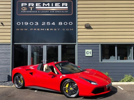 Ferrari 488 3.9 V8 TWIN-TURBO SPIDER, FERRARI WARRANTY TO APRIL 2022, SUSPENSION LIFTER