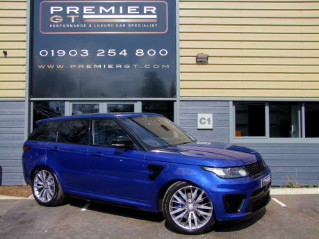 Land Rover Range Rover Sport SVR 5.0i V8 Supercharged. SORRY, THIS VEHICLE IS NOW SOLD.