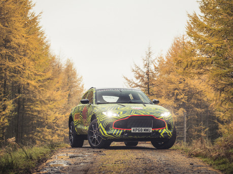 Prototype of Aston Martin's First SUV begins testing