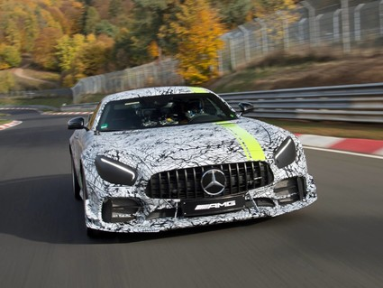 Teaser image of the AMG GT R PRO released ahead of premiere at the LA Auto Show