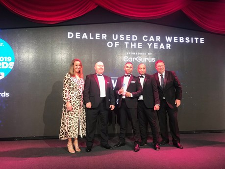 Third consecutive website win for a 67 Degrees customer at Used Car Awards 2