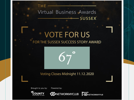 Vote for us in The Virtual Business Awards Sussex