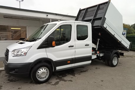 Ford Transit 350 Drw L3 Crew Cab Tipper - with Chip Box 1