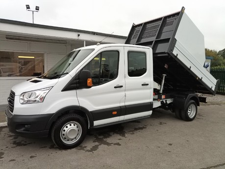 Ford Transit 350 Drw L3 Crew Cab Tipper - with Chip Box