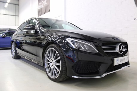 "Mercedes-Benz C Class C300 H AMG Line Premium with 19"" Alloys and Panoramic Roof Service History"