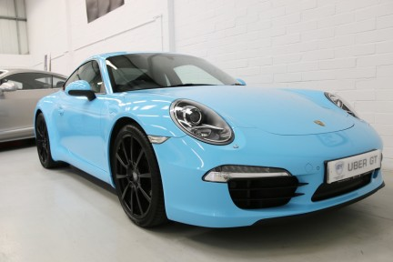 Porsche 911 Carrera S with Brookes Exhaust and Riviera Blue Wrap 2