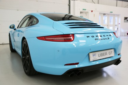 Porsche 911 Carrera S with Brookes Exhaust and Riviera Blue Wrap 3