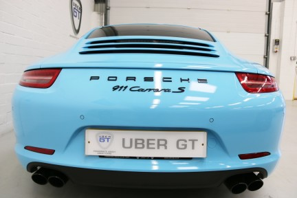 Porsche 911 Carrera S with Brookes Exhaust and Riviera Blue Wrap 5