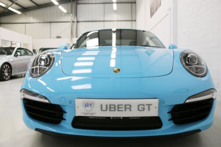 Porsche 911 Carrera S with Brookes Exhaust and Riviera Blue Wrap 7