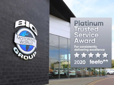 Big Motoring World Receives Feefo Platinum Trusted Service Award 2020