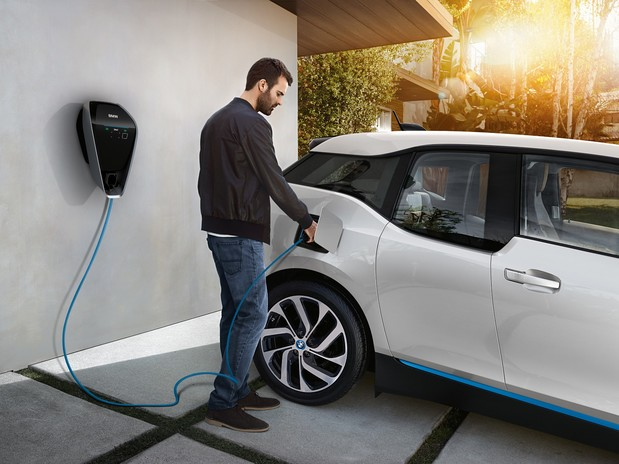 How do I charge an electric car at home?
