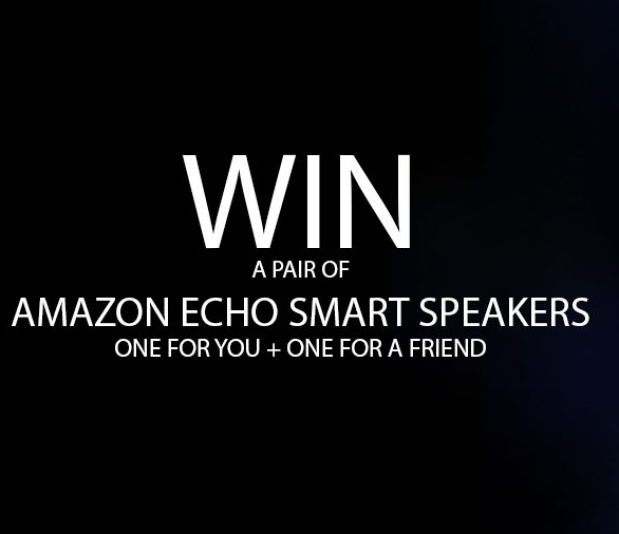 Win a Pair of Amazon Echo Smart Speakers!